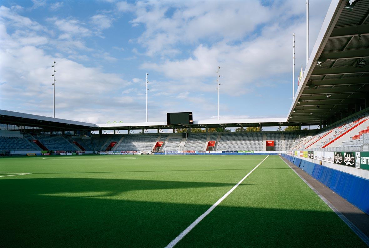 Das Stadion unter sich