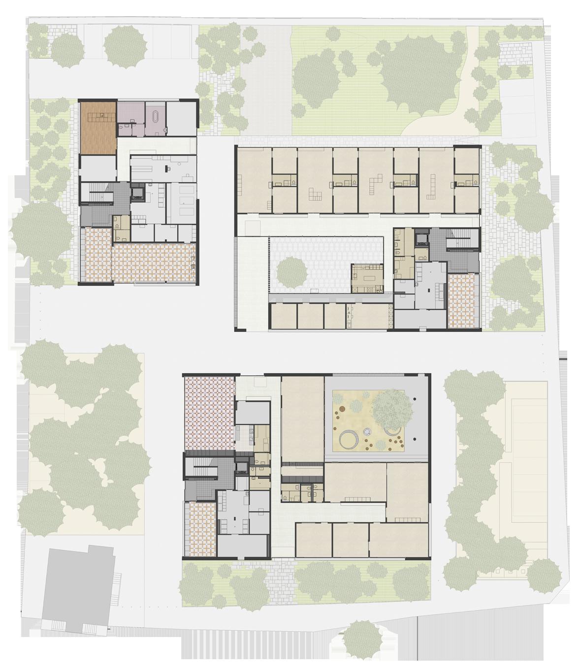 Grundriss Erdgeschoss Haus A,B,C