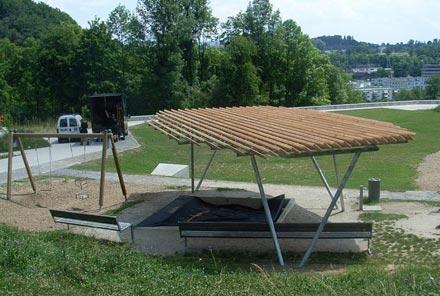 Schattendach für Spielplatz
