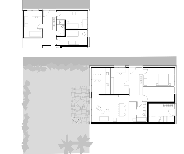 Wohnungsgrundriss Erdgeschoss