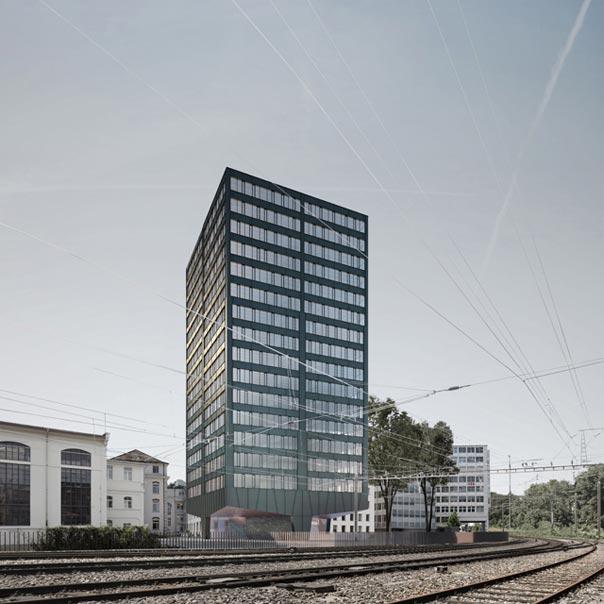 Hochh user baden nord pool architekten z rich for Architektur axonometrie