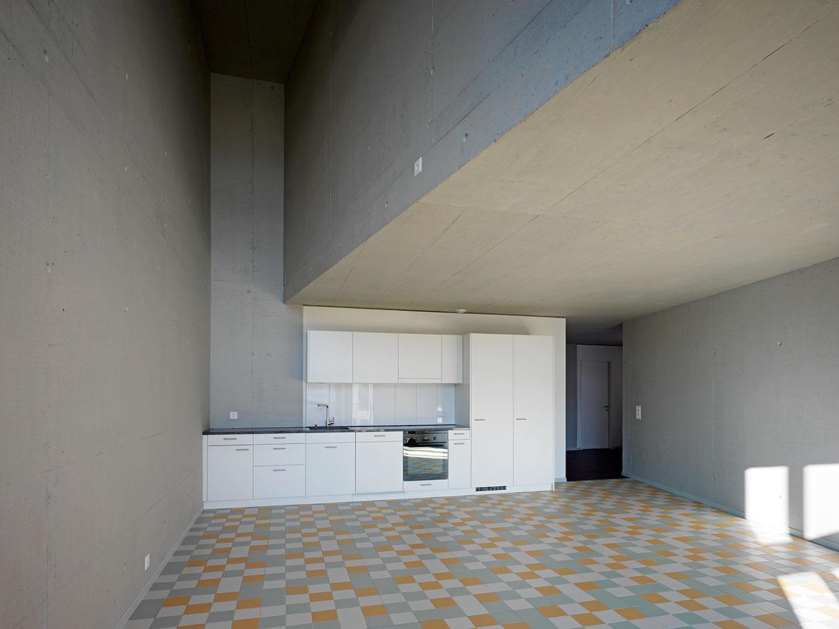 doppelgeschossige Küche