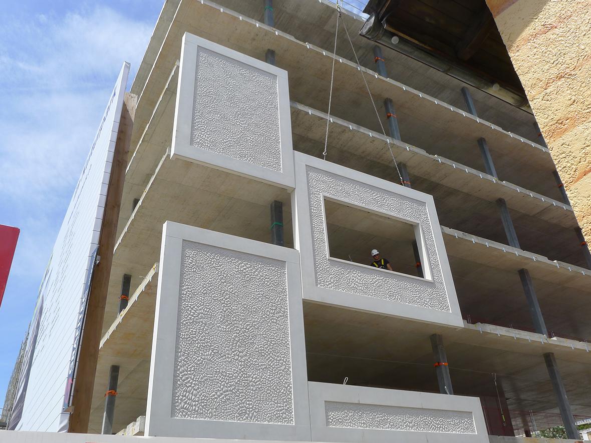 Fassadenmontage