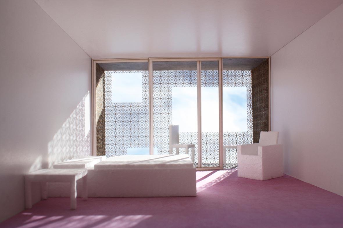 Blick Hotelzimmer