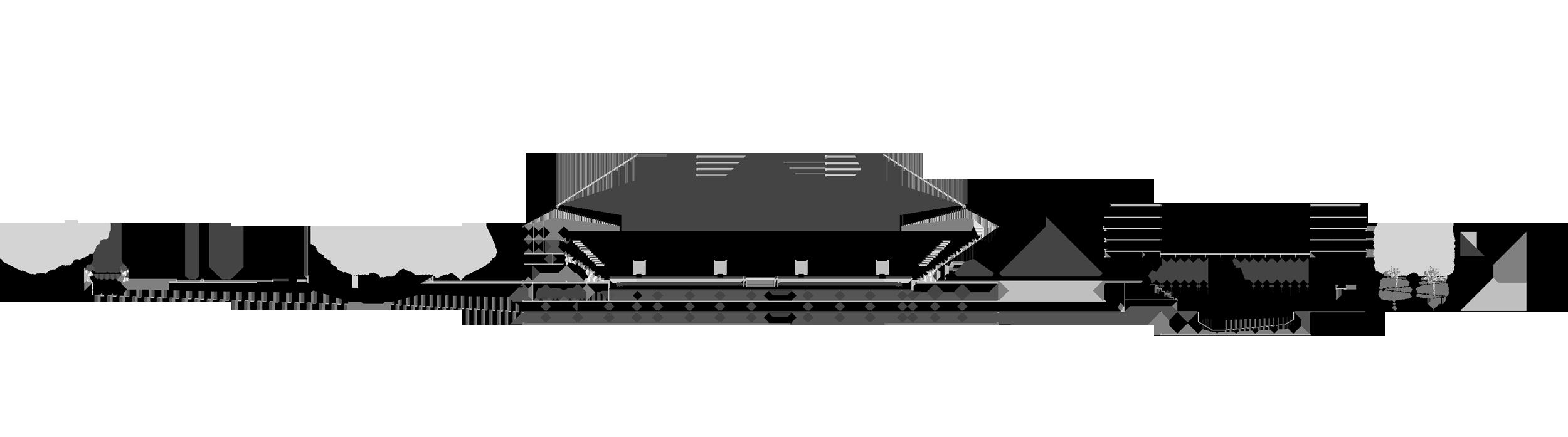 Schnitt Stadion - Schwimmhalle