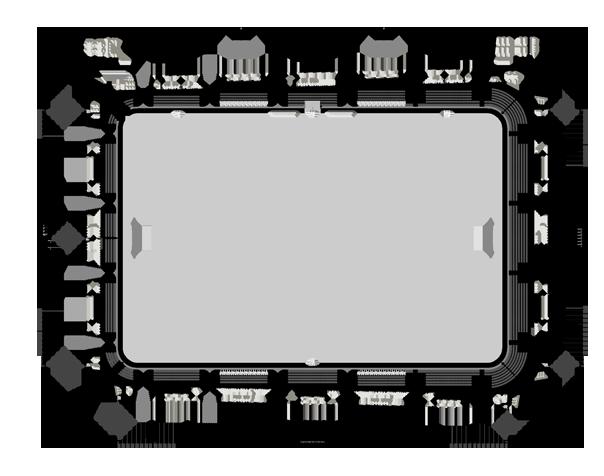 Grundriss Stadion Erdgeschoss