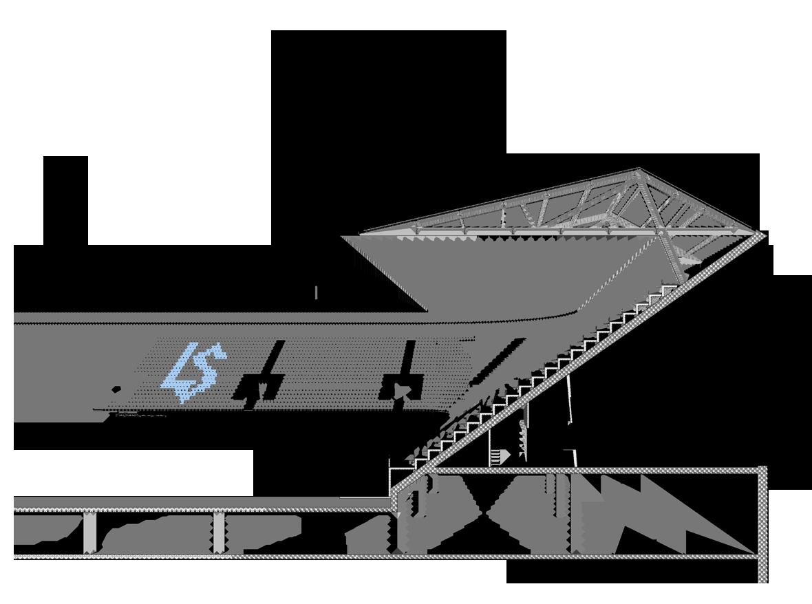 Schnittperspektive Stadion