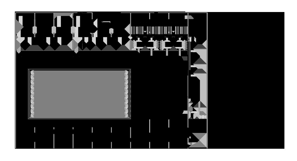 Grundriss Schwimmhalle Erdgeschoss