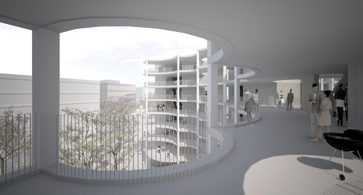 Perspektive Laubengang | pool Architekten Zürich