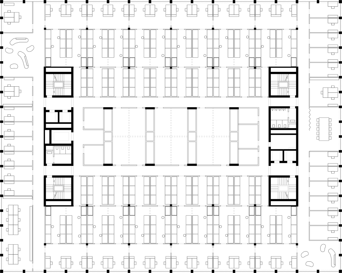 Grundriss Regelgeschoss Standardlabor