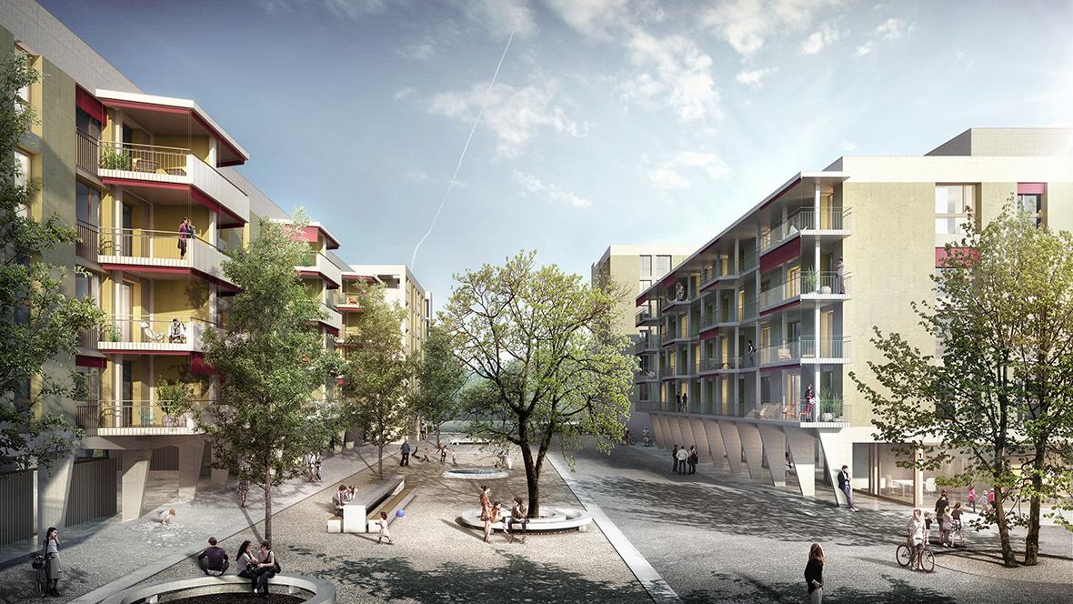genossenschaftsplatz pool architekten z rich. Black Bedroom Furniture Sets. Home Design Ideas