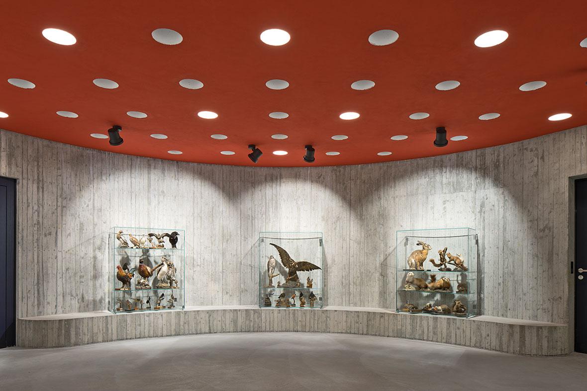 Ausstellungsraum Leonardo im Untergeschoss