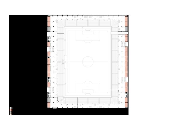 Stadion Nutzung 1. Obergeschoss