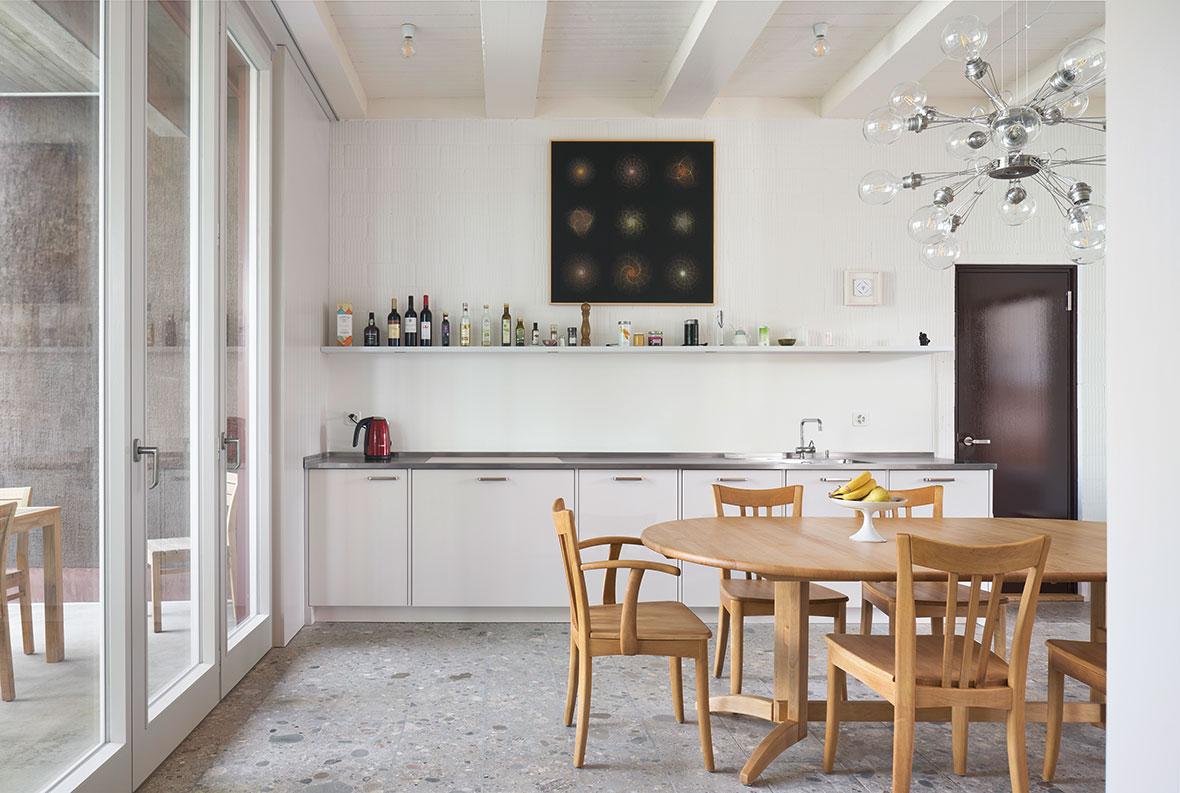 Küche in Betrieb