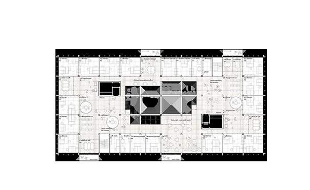Grundriss 6. Obergeschoss