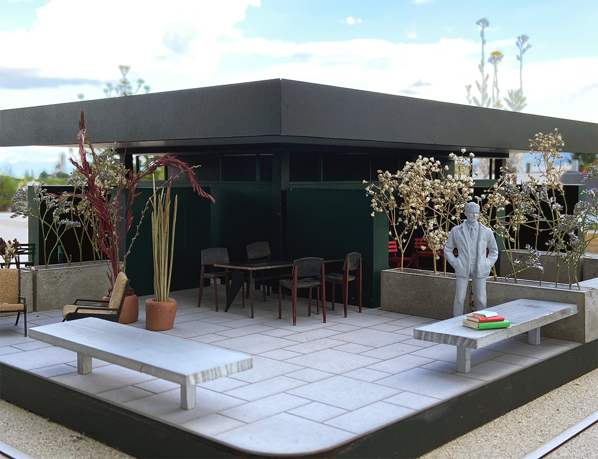 Modell Dachterrasse