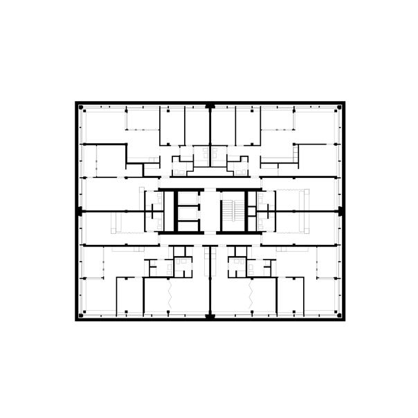 5. bis 6. Obergeschoss, Wohnen