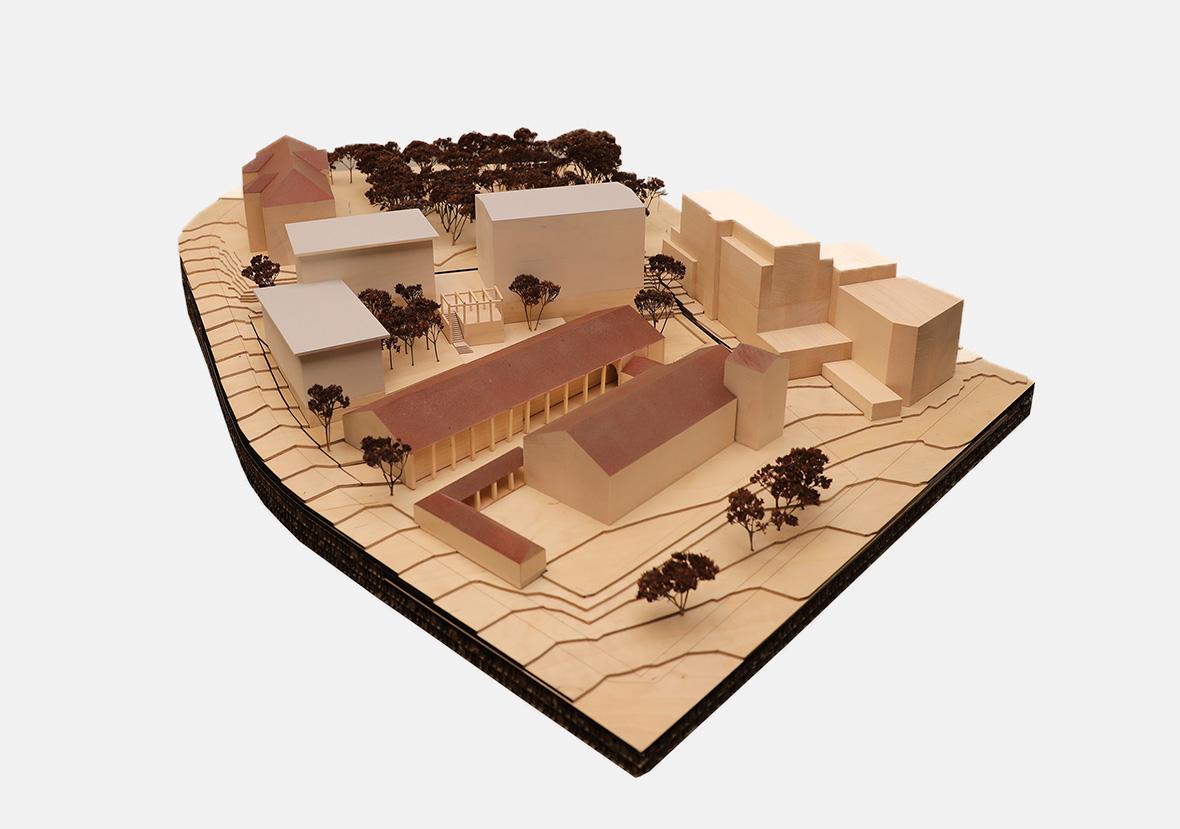Holzmodell Situation Einsiedlerhof