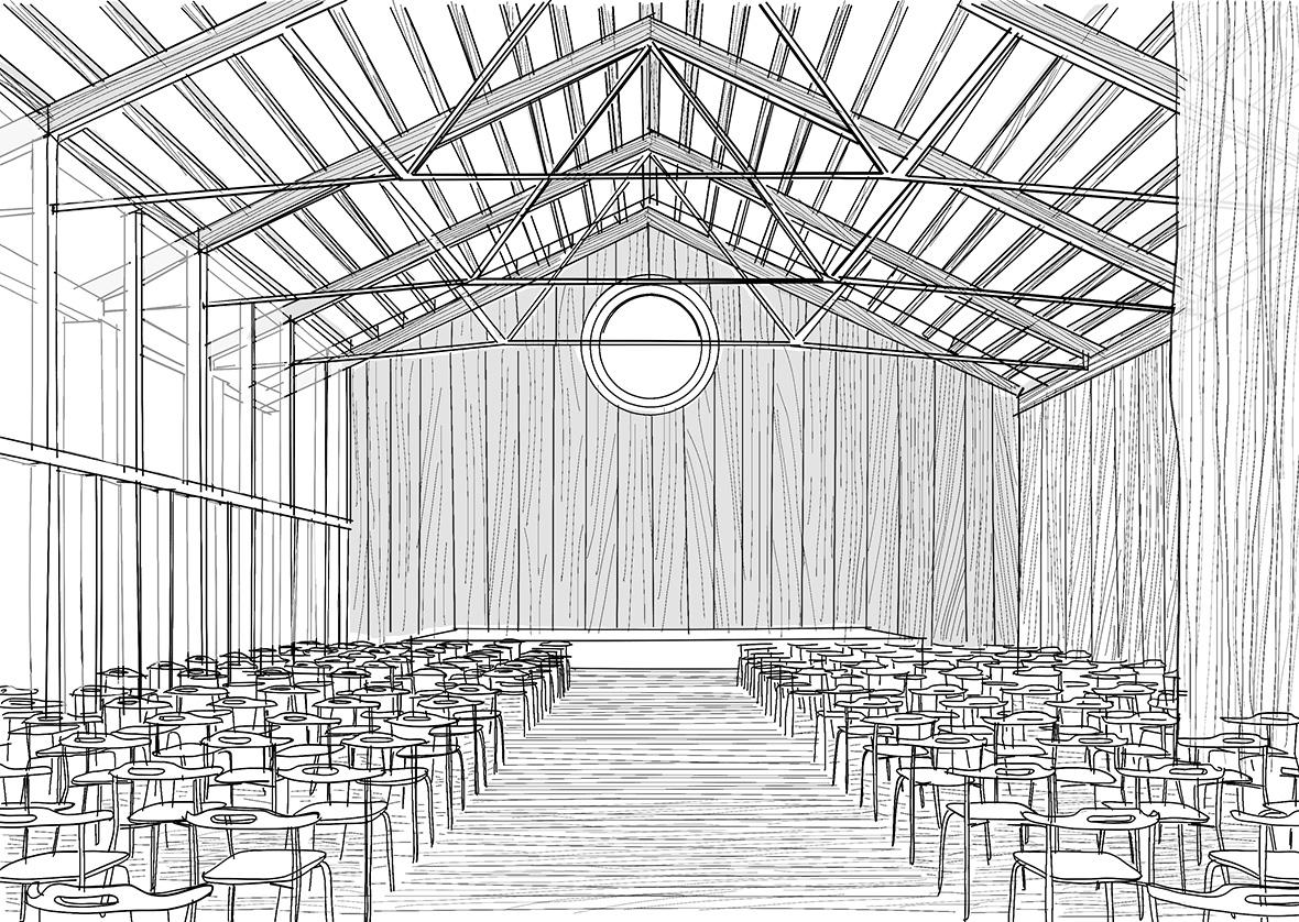 Innenansicht Pfarreisaal