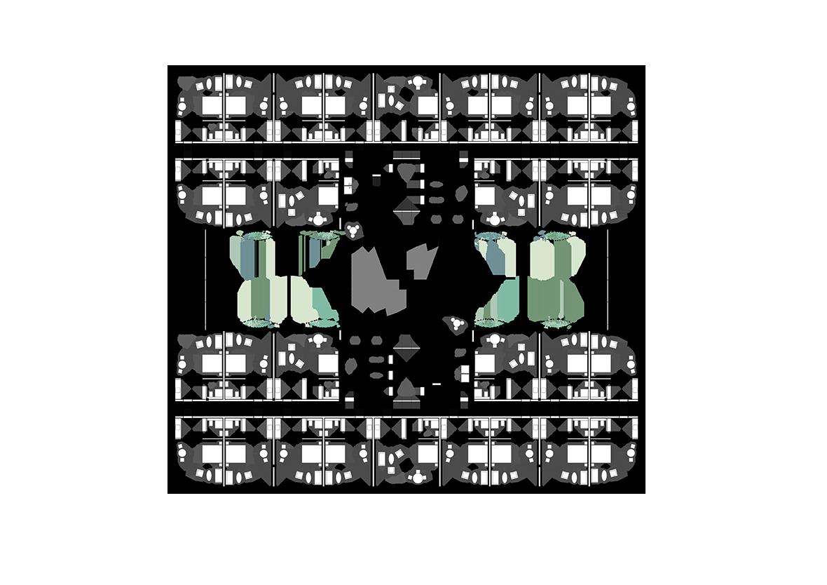 Grundriss Hotelgeschoss
