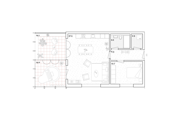 Wohnung Haus B Eco 3.5