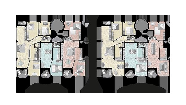 Grundriss Adaptierbares Wohnen